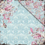 FabScraps - Vintage Elegance Collection - 12 x 12 Double Sided Paper - Fascination