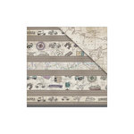 FabScraps - Journey in Time Collection - 12 x 12 Double Sided Paper - Mapped Out