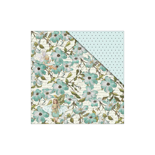 FabScraps - Floral Dreams Collection - 12 x 12 Double Sided Paper - Merry Weather