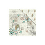 FabScraps - Floral Dreams Collection - 12 x 12 Double Sided Paper - Dewdrop