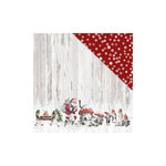 FabScraps - Christmas Snow Collection - 12 x 12 Double Sided Paper - Santa's Helpers