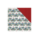 FabScraps - Christmas Snow Collection - 12 x 12 Double Sided Paper - Stockings and Bells