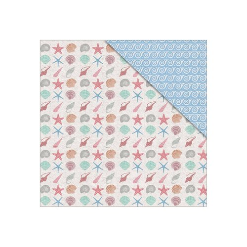 FabScraps - Summer Loving Collection - 12 x 12 Double Sided Paper - Sea Shells
