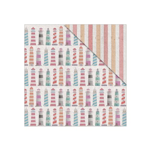 FabScraps - Summer Loving Collection - 12 x 12 Double Sided Paper - Lighthouses