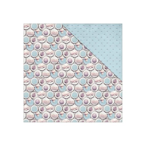 FabScraps - For The Love Of Tea Collection - 12 x 12 Double Sided Paper - Sweet Treats