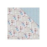 FabScraps - For The Love Of Tea Collection - 12 x 12 Double Sided Paper - Social Tea