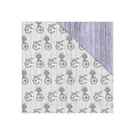 FabScraps - Lavender Breeze Collection - 12 x 12 Double Sided Paper - Memory Lane