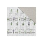 FabScraps - Lavender Breeze Collection - 12 x 12 Double Sided Paper - Family Love