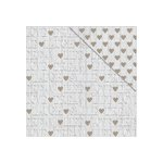 FabScraps - Lavender Breeze Collection - 12 x 12 Double Sided Paper - Happy Heart