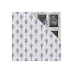 FabScraps - Lavender Breeze Collection - 12 x 12 Double Sided Paper - Whisper