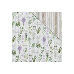 FabScraps - Lavender Breeze Collection - 12 x 12 Double Sided Paper - Love Garden
