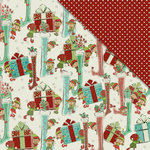 FabScraps - Joy To The World Collection - Christmas - 12 x 12 Double Sided Paper - Festive Stockings