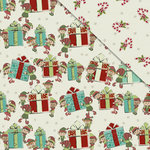FabScraps - Joy To The World Collection - Christmas - 12 x 12 Double Sided Paper - Little Helpers