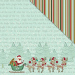 FabScraps - Joy To The World Collection - Christmas - 12 x 12 Double Sided Paper - Santa's Sled