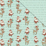 FabScraps - Joy To The World Collection - Christmas - 12 x 12 Double Sided Paper - Rocking With Rudolf
