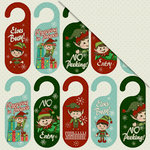 FabScraps - Joy To The World Collection - Christmas - 12 x 12 Double Sided Paper - Busy Elves