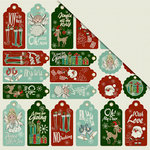 FabScraps - Joy To The World Collection - Christmas - 12 x 12 Double Sided Paper - Time For Giving