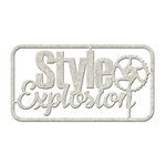 FabScraps - Dream Steam Collection - Die Cut Words - Style Explosion