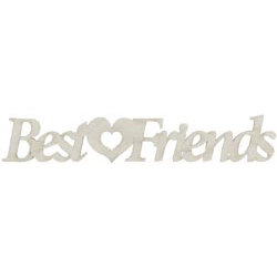 FabScraps - Shabby Chic Collection - Die Cut Words - Best Friends