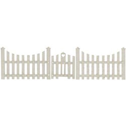 FabScraps - Shabby Chic Collection - Die Cut Embellishments - Picket Fence with Gate