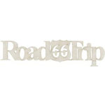 FabScraps - Timeless Travel Collection - Die Cut Words - Road Trip