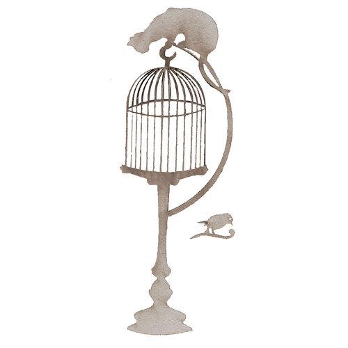 FabScraps - High Tea Collection - Die Cut Embellishments - Birdcage