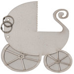 FabScraps - Vintage Baby Collection - Die Cut Albums - Pram - Baby Carriage
