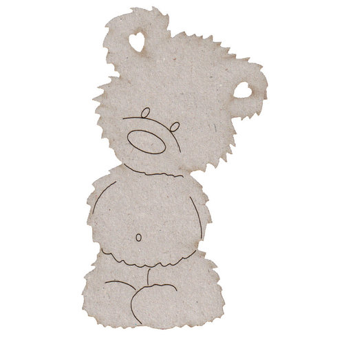 FabScraps - Vintage Baby Collection - Die Cut Embellishments - Teddy Bear