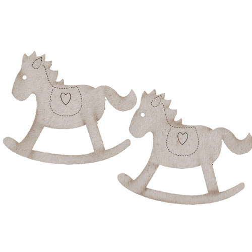 FabScraps - Vintage Baby Collection - Die Cut Embellishments - Rocking Horse