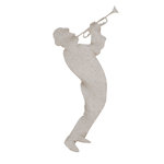 FabScraps - Burlesque Collection - Die Cut Embellishments - Musician Playing Trumpet