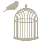 FabScraps - Classic Collection - Die Cut Embellishments - Bird Cage with Bird