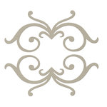 FabScraps - Classic Collection - Die Cut Embellishments - Double Swirl Frame