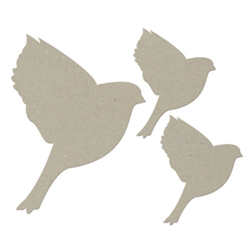 FabScraps - Classic Collection - Die Cut Embellishments - Flying Bird