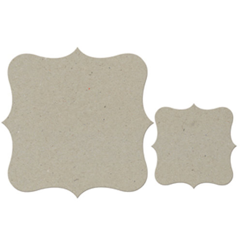 FabScraps - Classic Collection - Die Cut Embellishments - Large and Small Bracket Frames