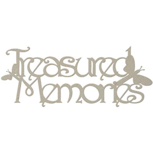FabScraps - Classic Collection - Die Cut Words - Treasured Memories