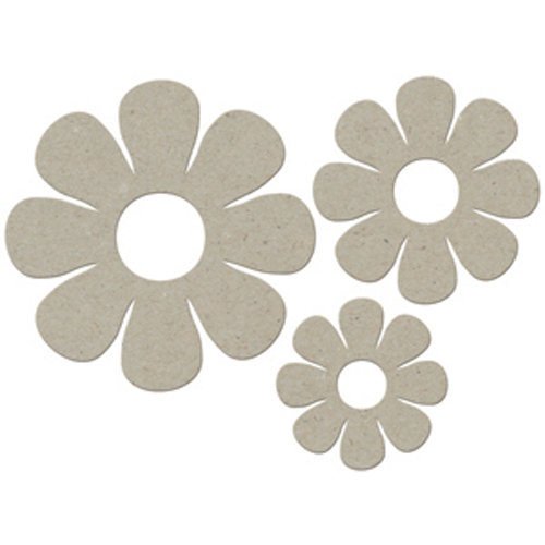 FabScraps - Organic Collection - Die Cut Embellishments - Daisy Set