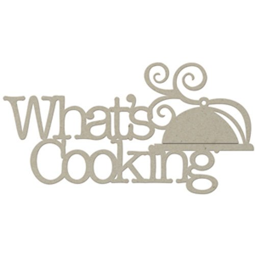 FabScraps - Organic Collection - Die Cut Words - What's Cooking