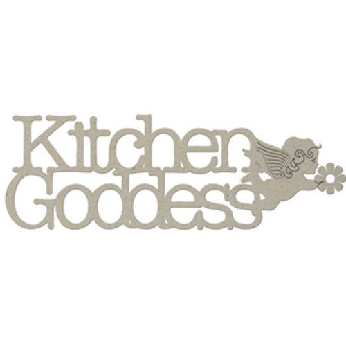 FabScraps - Organic Collection - Die Cut Words - Kitchen Goddess