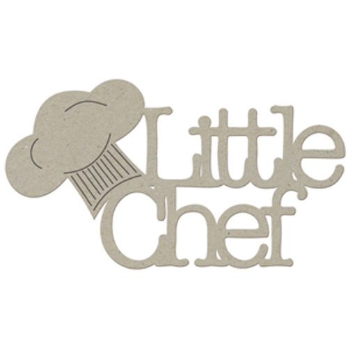 FabScraps - Organic Collection - Die Cut Words - Little Chef