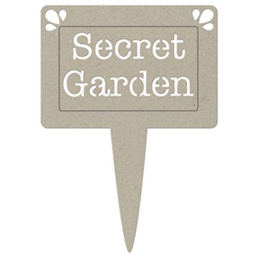 FabScraps - Organic Collection - Die Cut Words - Secret Garden