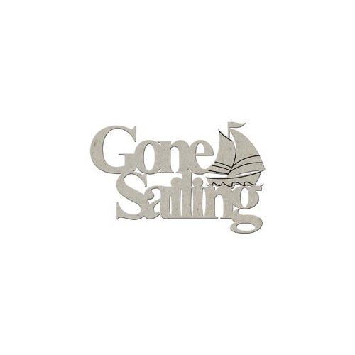 FabScraps - Summer Collection - Die Cut Words - Gone Sailing