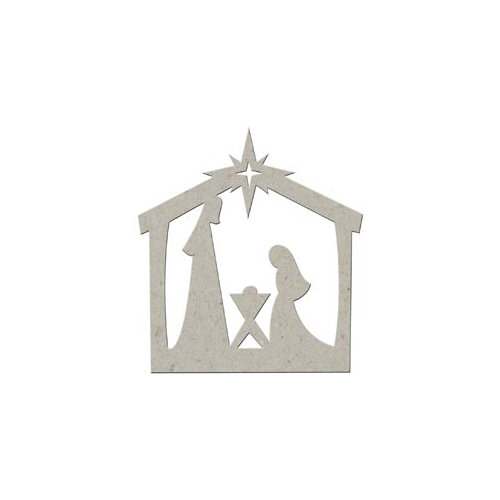 FabScraps - Christmas Collection - Die Cut Embellishments - Nativity Scene