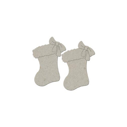 FabScraps - Christmas Collection - Die Cut Embellishments - Stockings