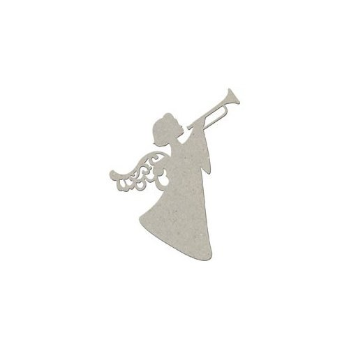 FabScraps - Christmas Collection - Die Cut Embellishments - Christmas Angel with Trumpet