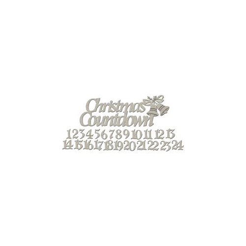 FabScraps - Christmas Collection - Die Cut Embellishments - Christmas Countdown