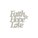 FabScraps - Christmas Collection - Die Cut Words - Faith Hope Love
