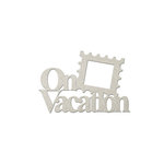 FabScraps - Romantic Travel Collection - Die Cut Words - On Vacation