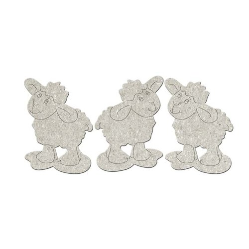 FabScraps - Little Peeps Collection - Die Cut Embellishments - Little Sheep
