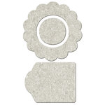 FabScraps - Little Peeps Collection - Die Cut Embellishments - Flower Shape, Centre and Tag