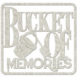 FabScraps - Beach Affair Collection - Die Cut Words - Bucket of Memories